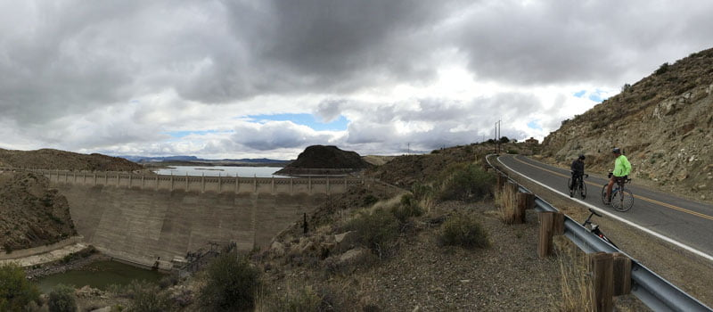 road biking near Elephant Butte Dam