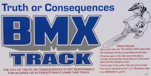 BMX Track signage