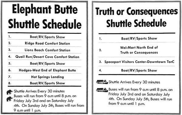 free shuttle schedule