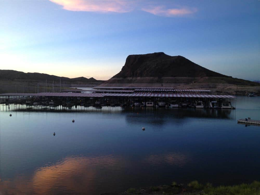 Elephant Butte Dam at Dusk