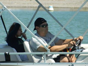 boating on Elephant Butte Lake