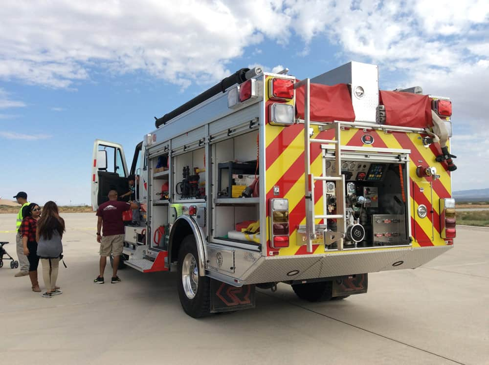 Fire Truck at Spaceport America