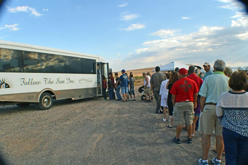 Follow The Sun Tour bus at Spaceport America