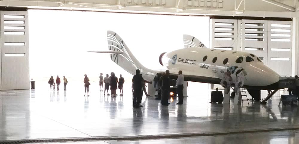 hangar and WhiteKnight2 at Spaceport America