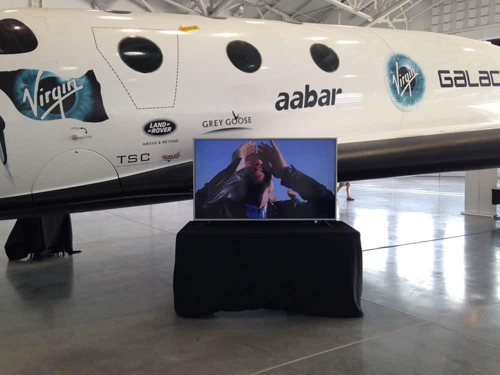 Richard Branson again!  at Spaceport America