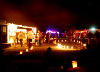 Elephant Butte's Luminaria Beachwalk