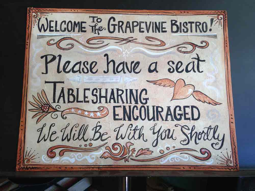 welcome to the Grapevine Bistro in Truth or Consequences NM