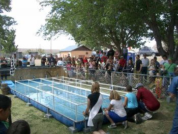 duck race at T or C Fiesta