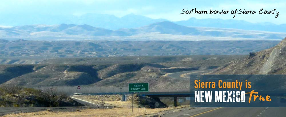 Southern border of Sierra County New Mexico