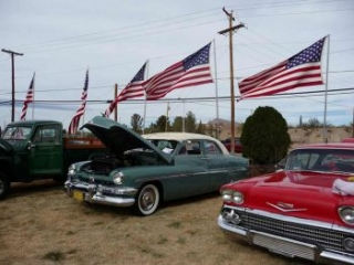 cars at Veterans Day Car Show in Truth or Consequences NM