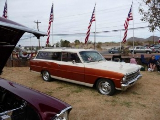 wagon at Veterans Day Car Show in Truth or Consequences NM