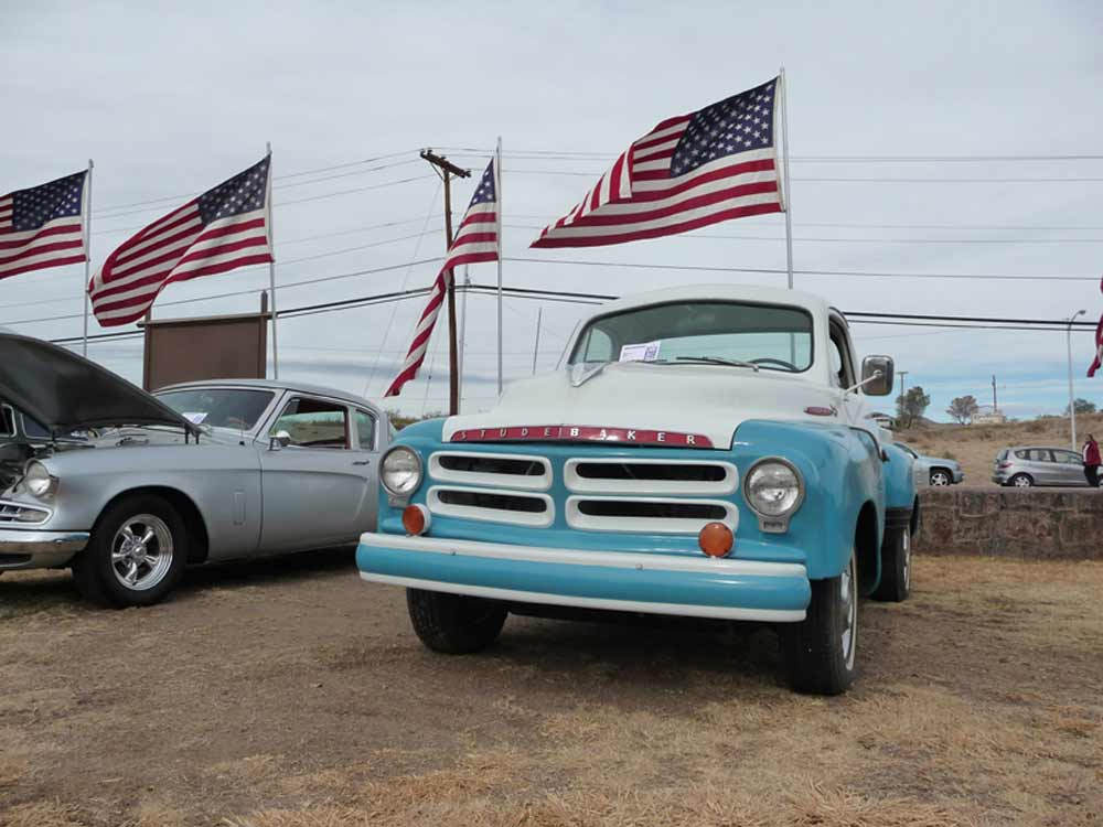 Studebaker truck at Veterans Day Car Show in Truth or Consequences NM