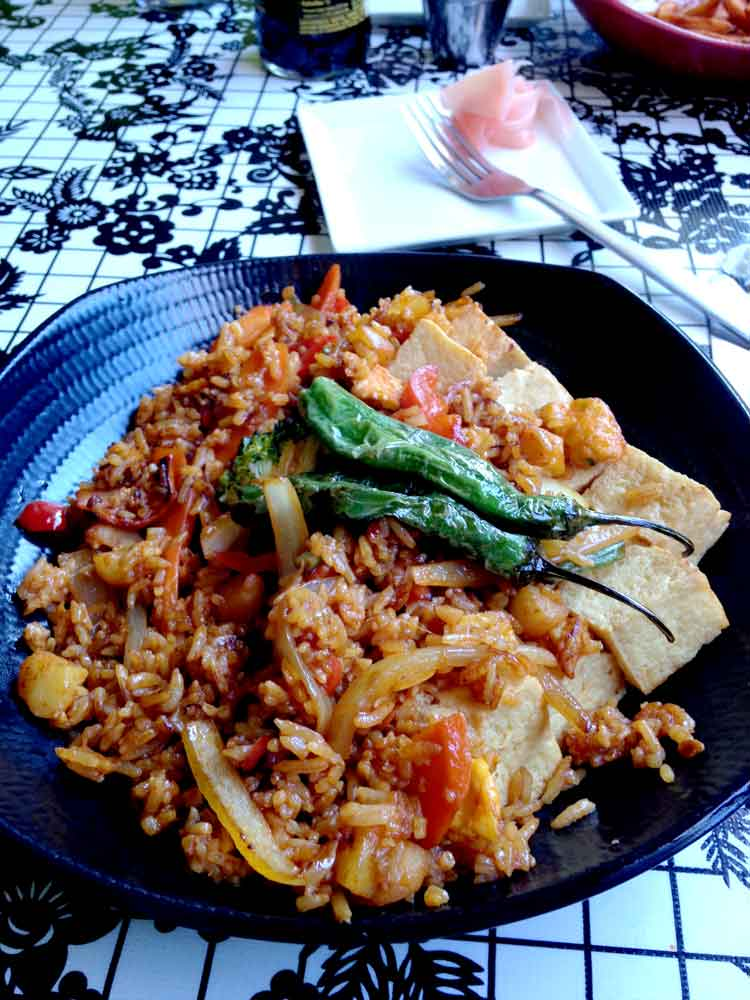 Latitude 33: Lucky Seven Stir-Fried Rice with Tofu