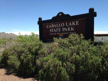 Caballo Lake State Park entrance