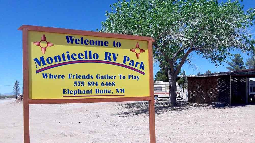 Monticello RV Park, Elephant Butte NM