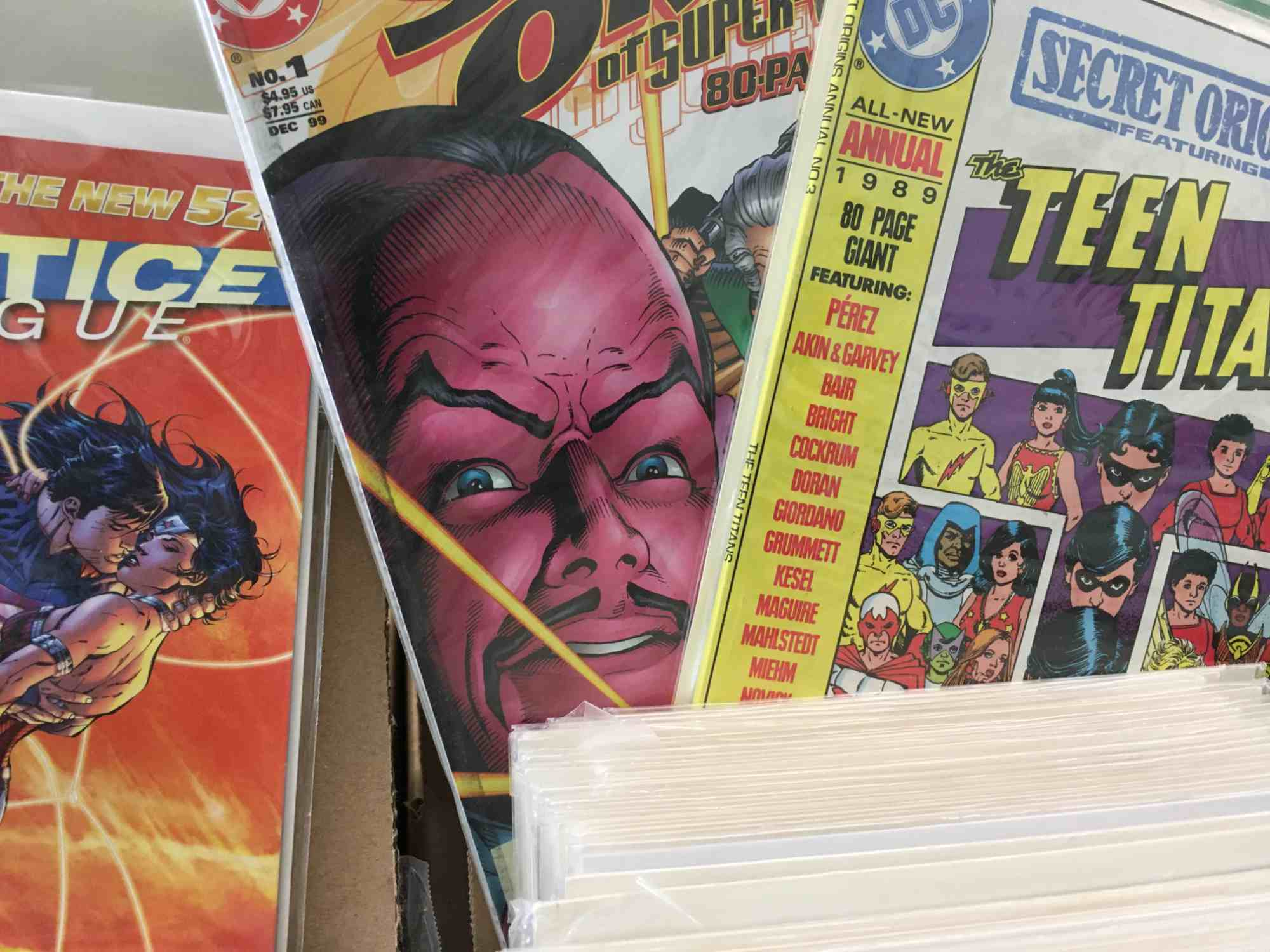 comic books at Vic's, downtown Truth or Consequences