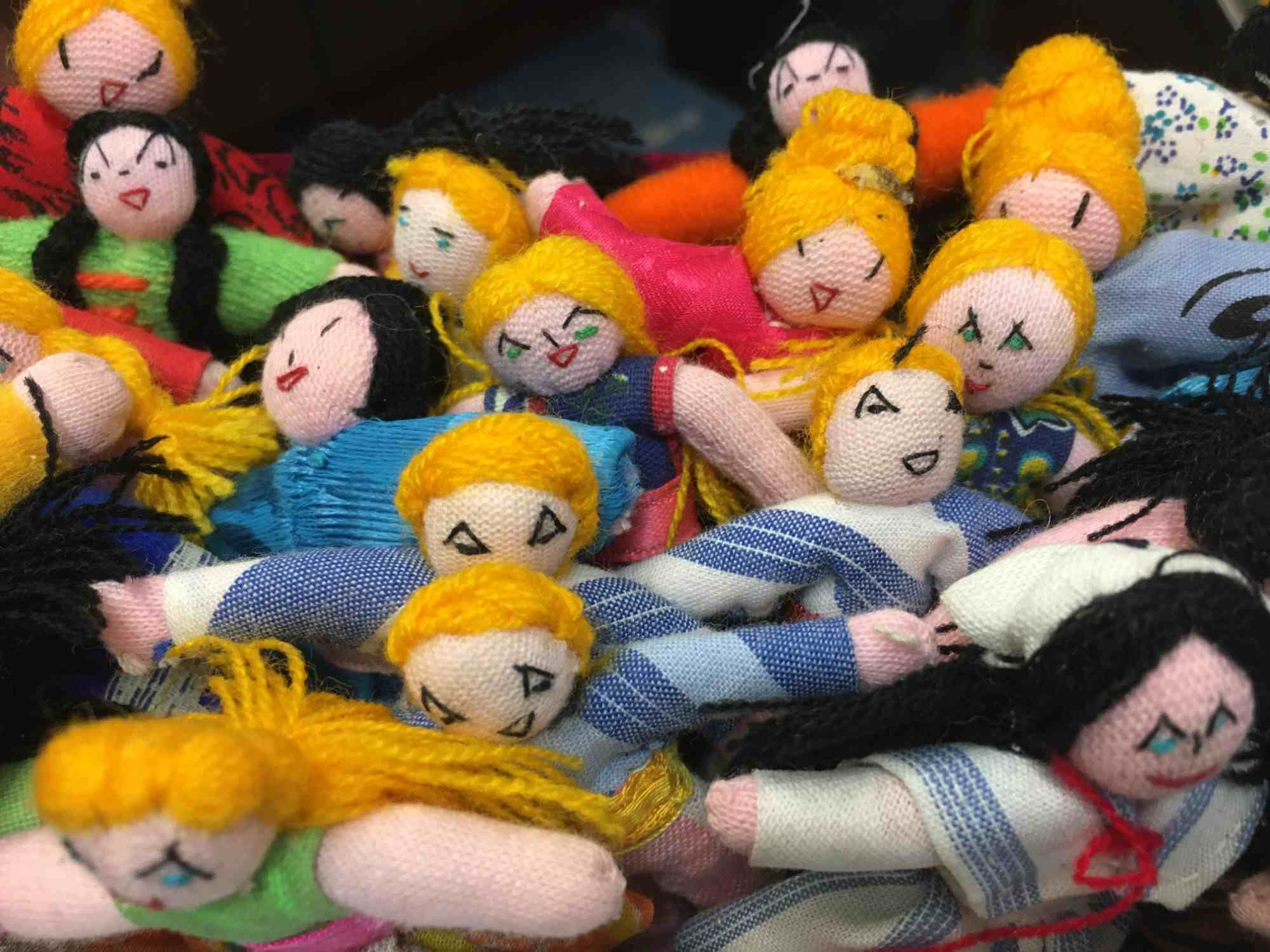 handmade dolls at Vic's, downtown Truth or Consequences