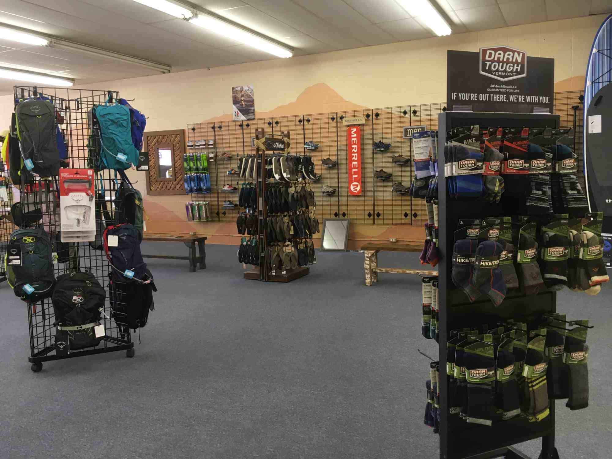 Morning Star Outfitters shoe section