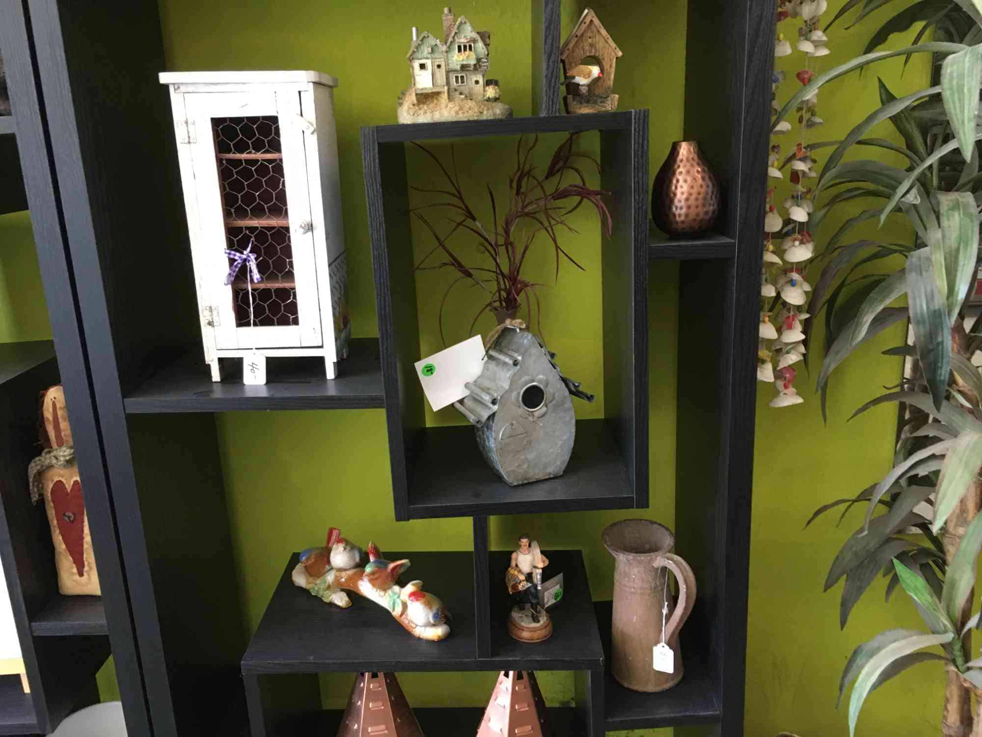 bird houses and ceramics at at Vic's, downtown Truth or Consequences