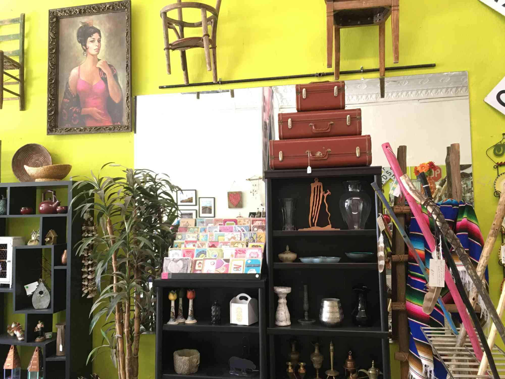 gifts and collectibles at Vic's, downtown Truth or Consequences