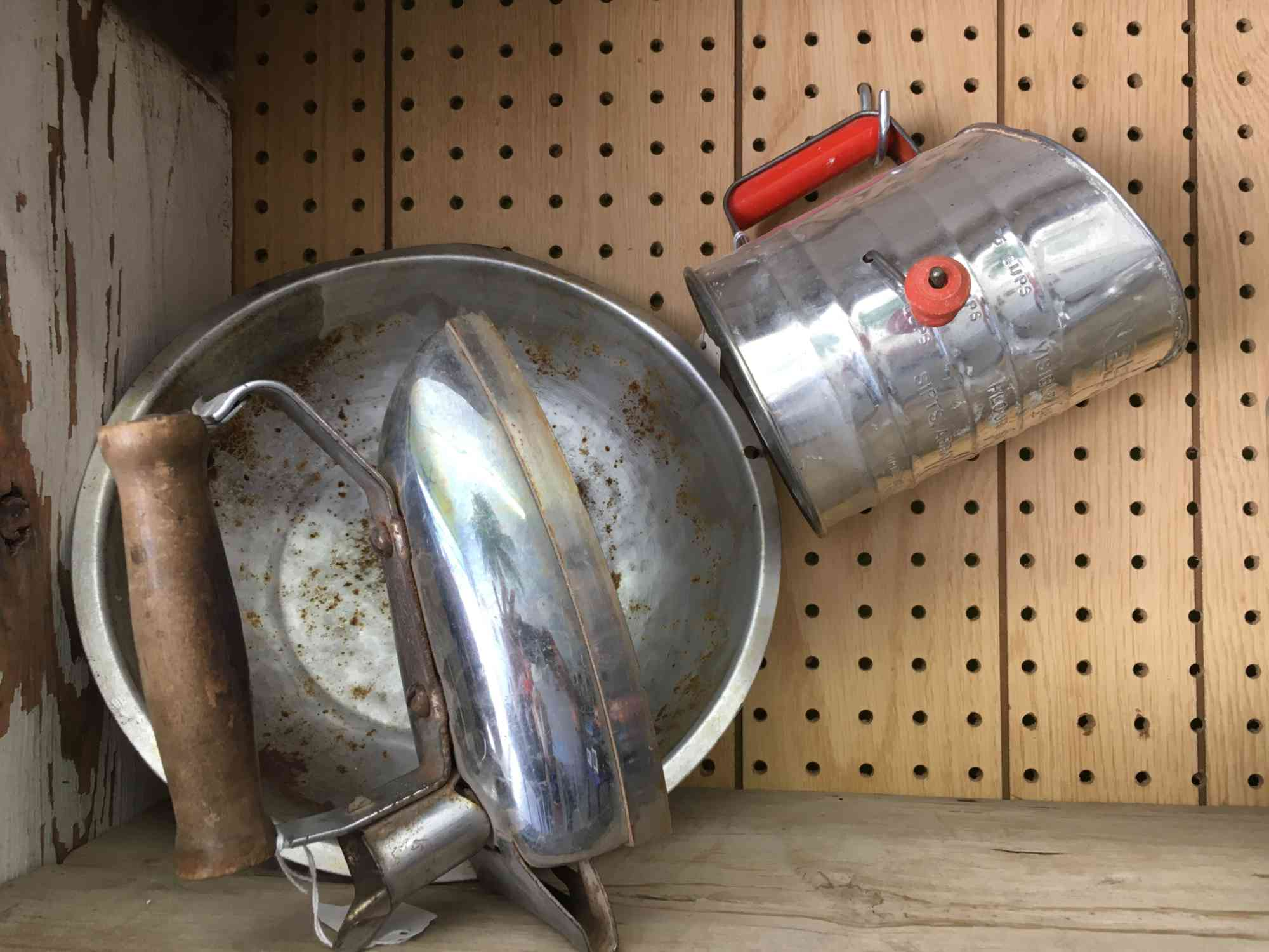 vintage flour sifter at Vic's, downtown Truth or Consequences