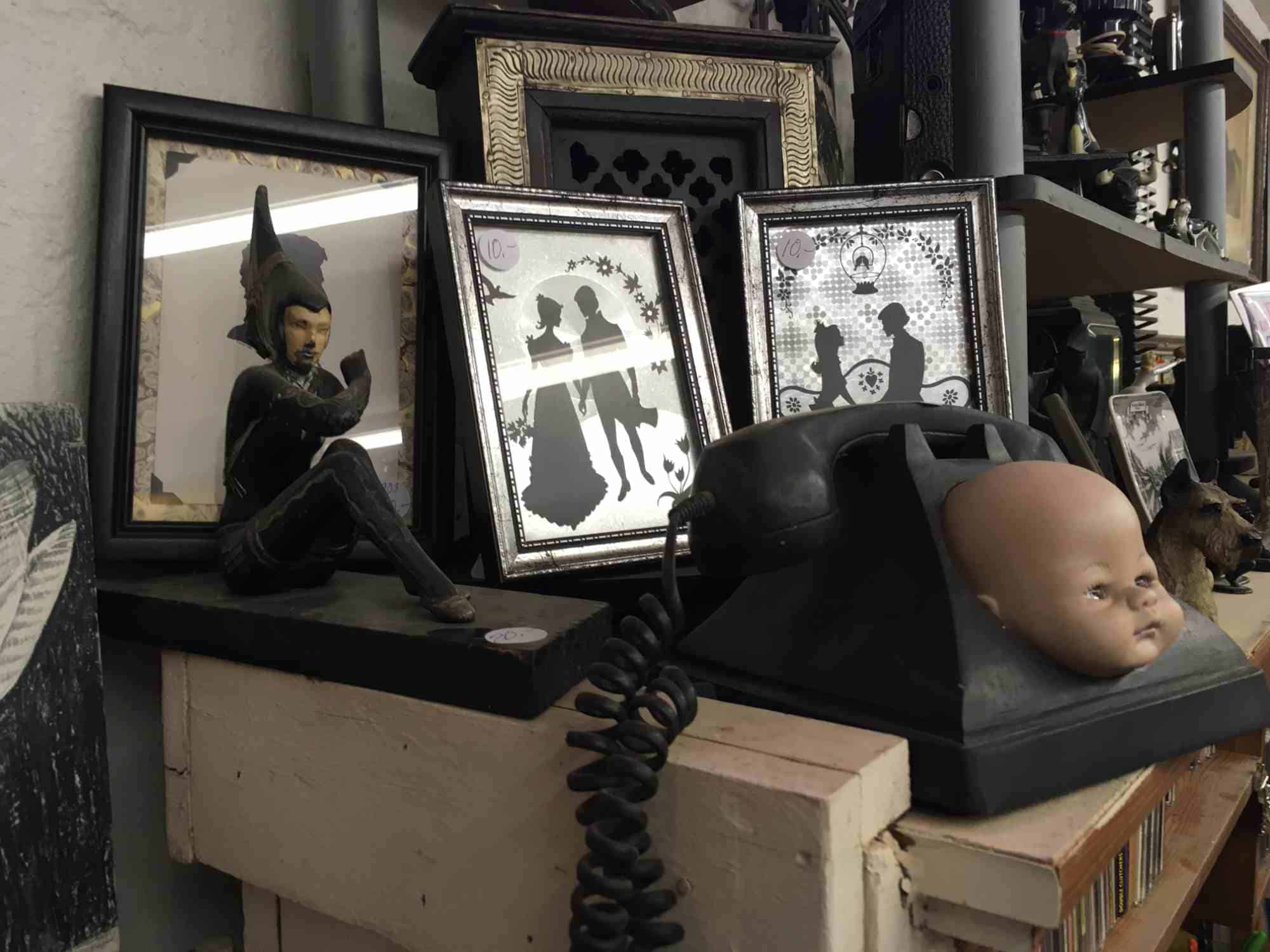 art of the macabre at Don's Den Truth or Consequences