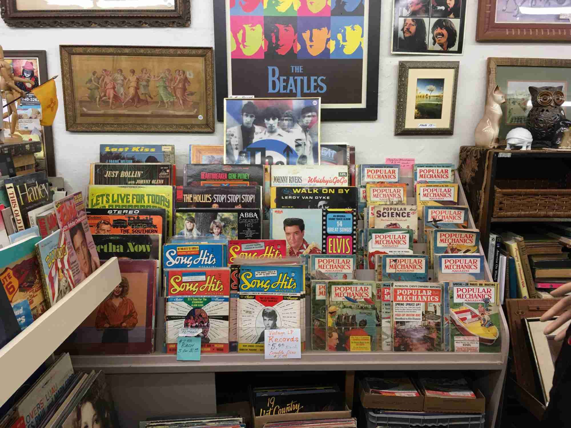 magazines and records at Don's Den Truth or Consequences