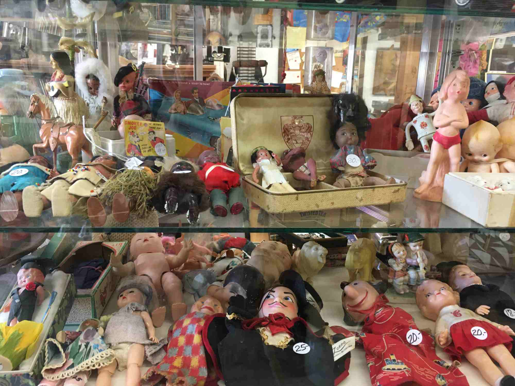 dolls and puppets at Don's Den Truth or Consequences