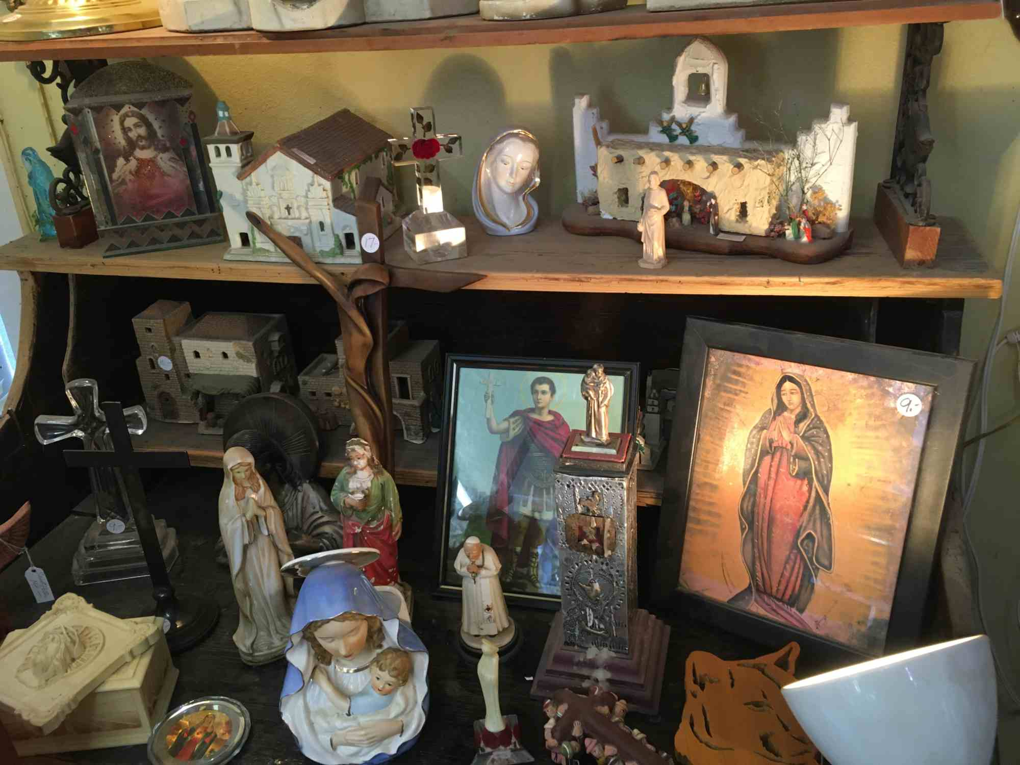 religious icons at Don's Den Truth or Consequences
