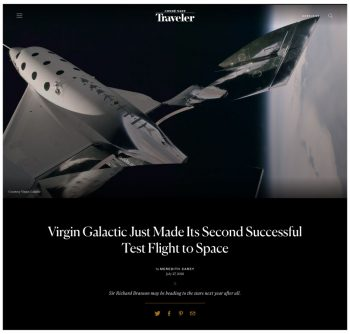 Virgin Galactic Just Made Its Second Successful Test Flight to Space