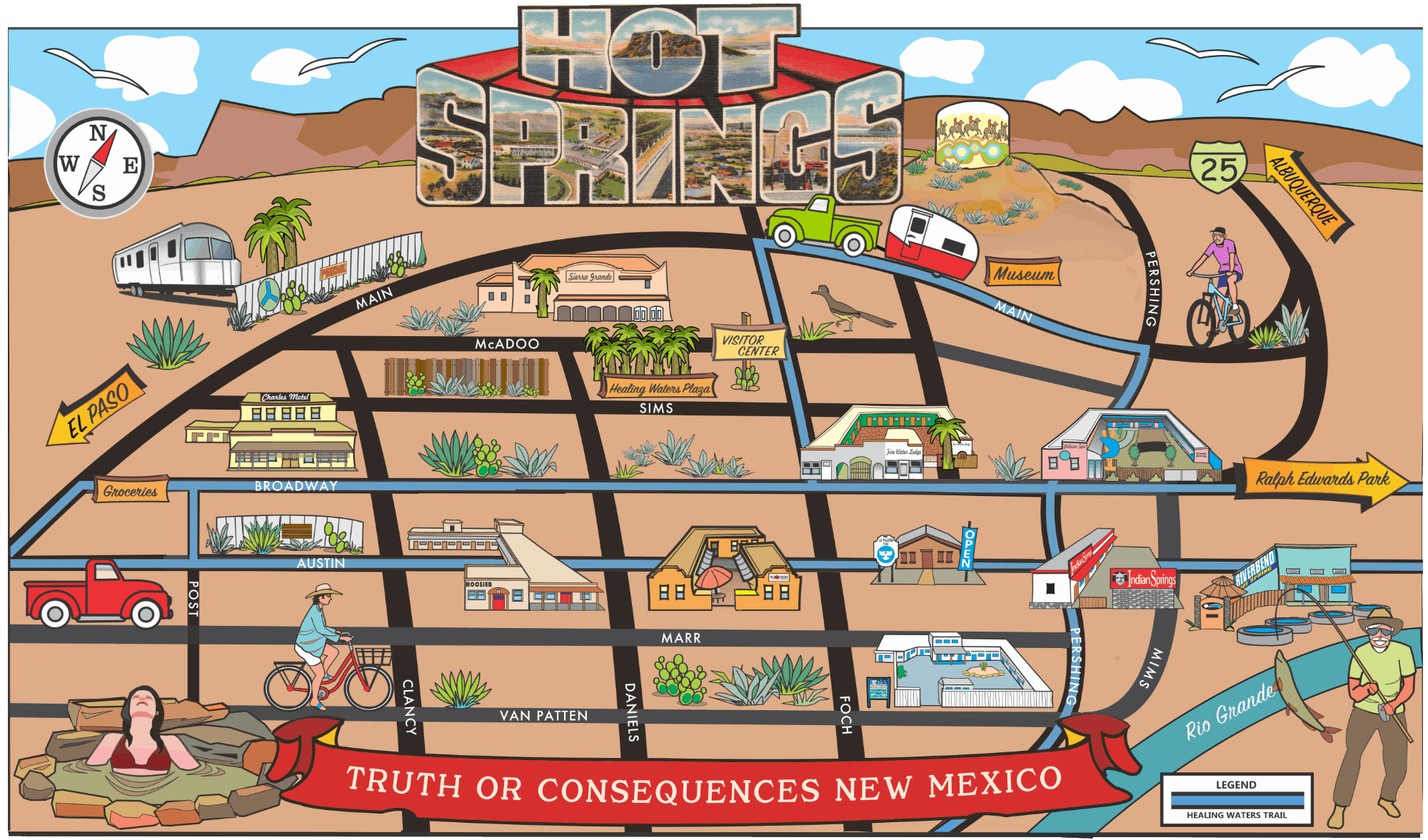 ten hot spring spas in Truth or Consequences New Mexico