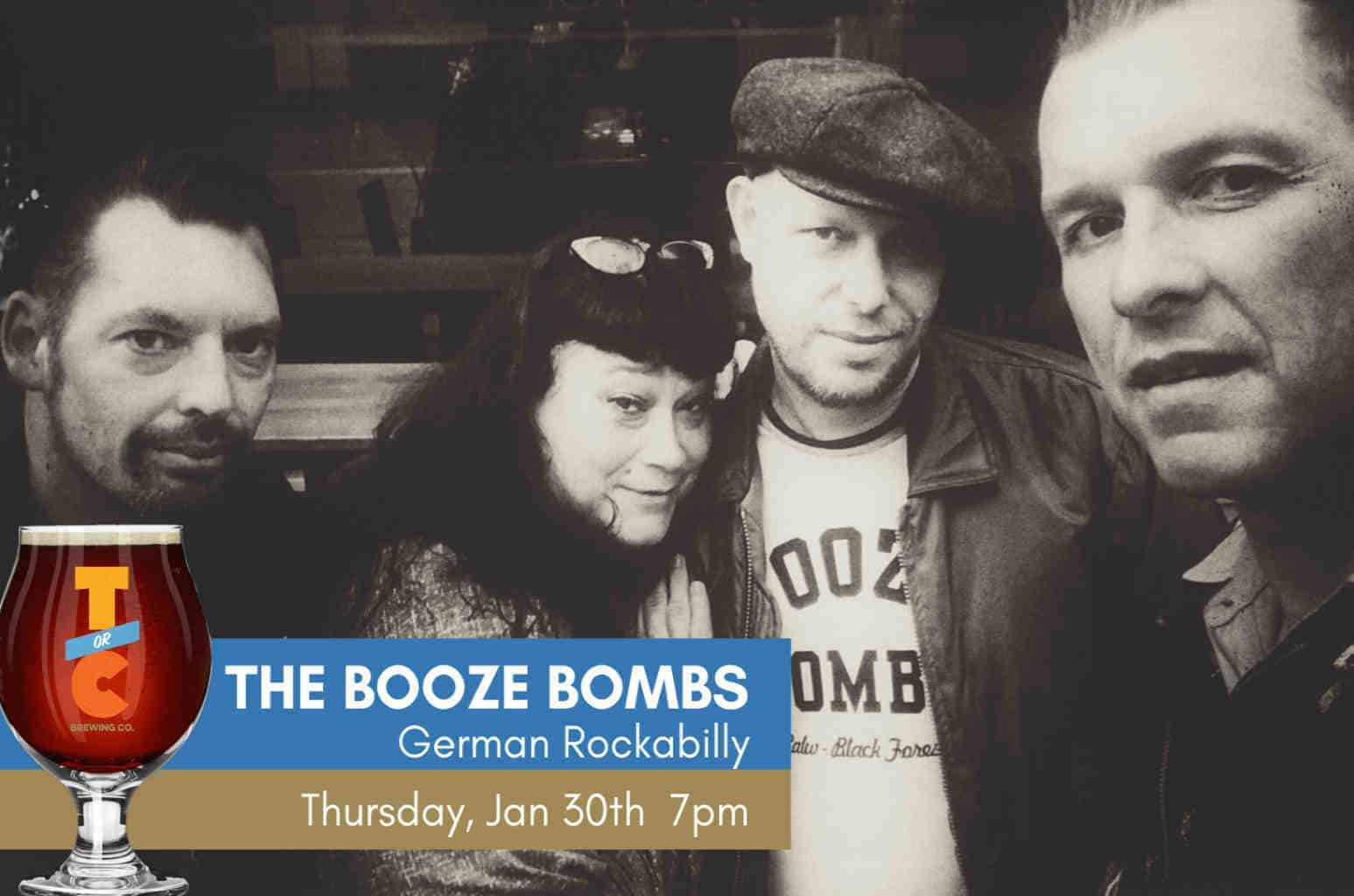 The Booze Bombs - German Rockabilly - with CW Ayon Duo opening
