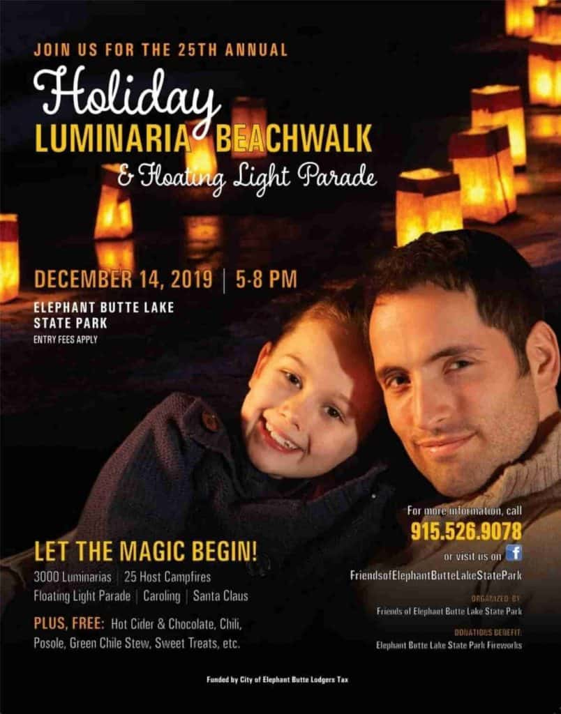 2019 Elephant Butte Luminaria Beachwalk and Floating Lights Parade