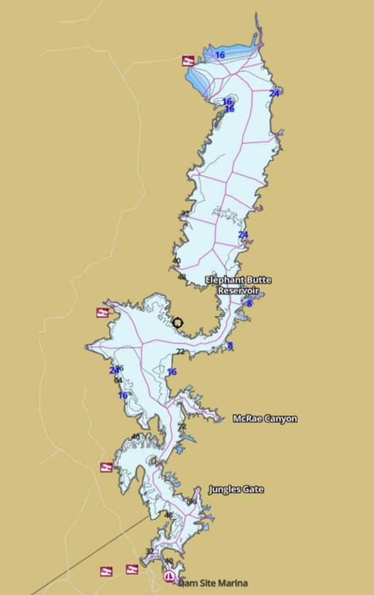 kayak fishing tournament map