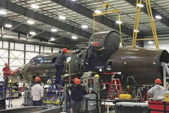 2nd virgin galactic vehicle being built in Mojave