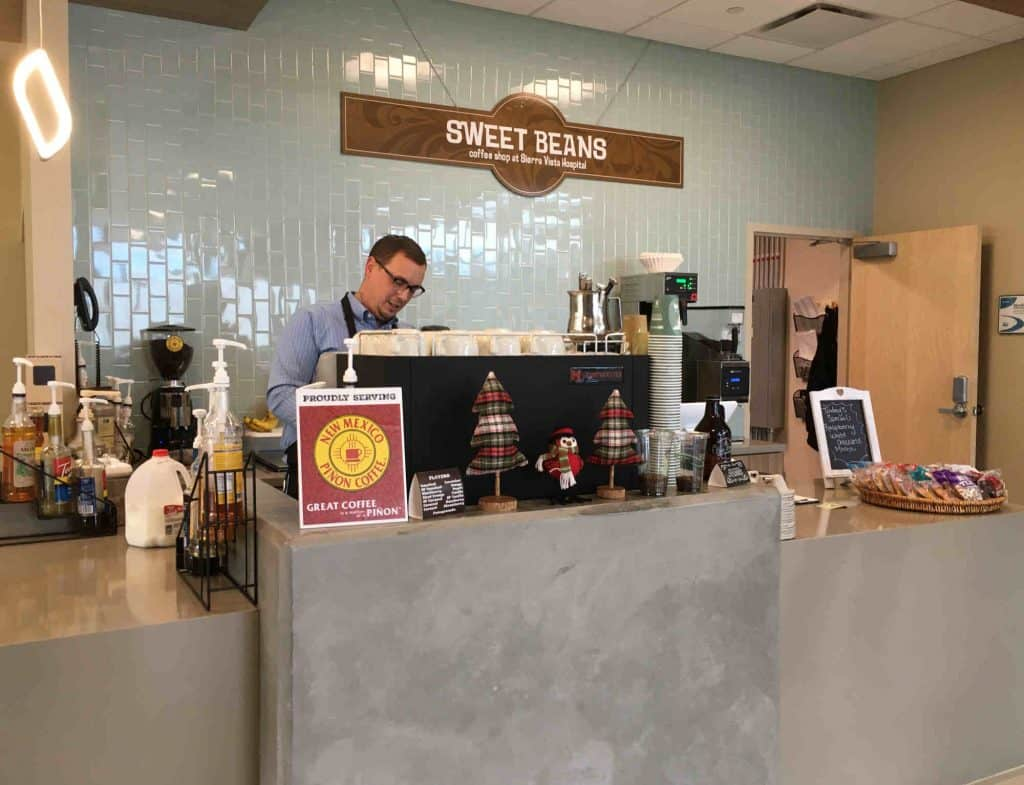 barista Tim at Sweet Beans Coffee