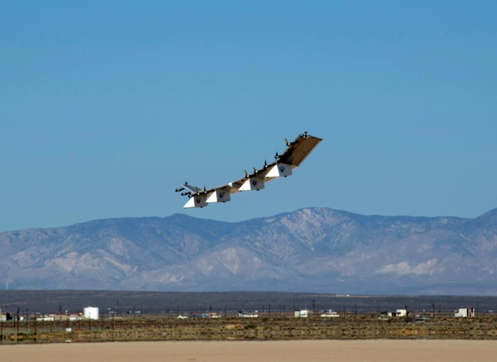 solar-powered satellite at Spaceport America
