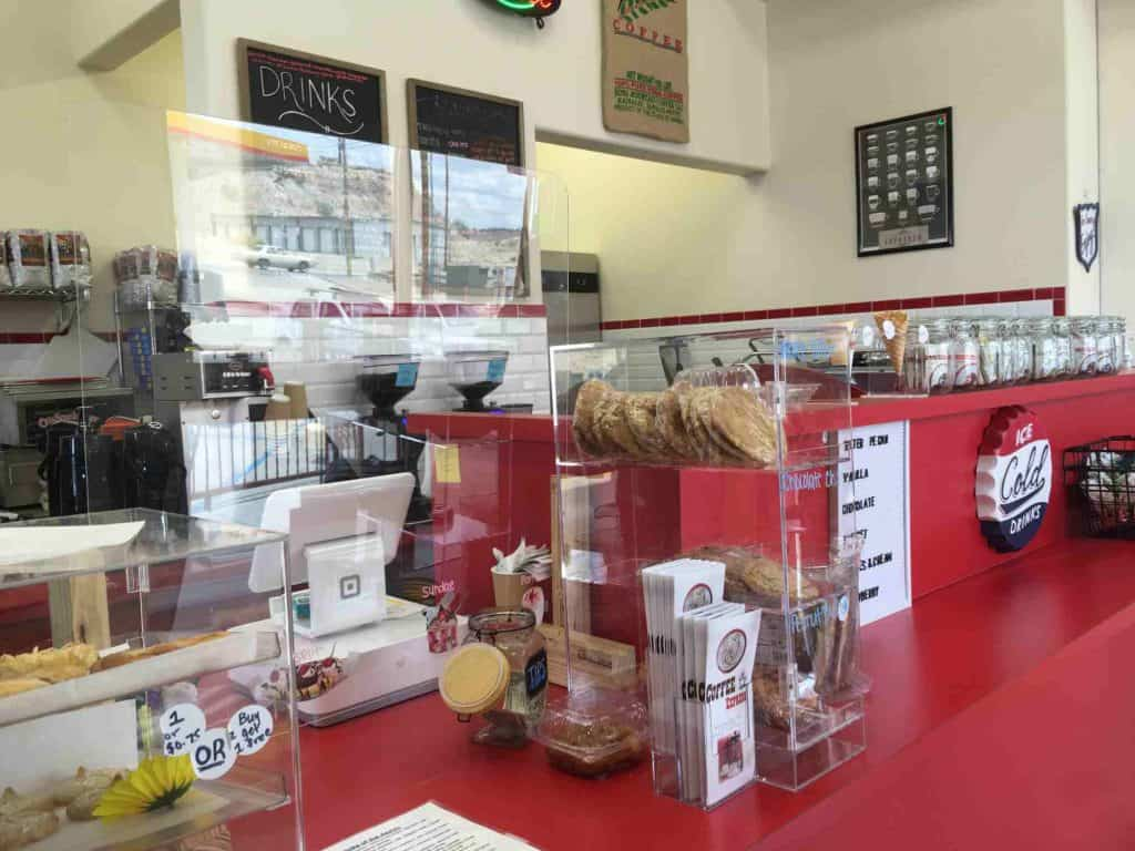 order counter at Coffee Express in Truth or Consequences NM