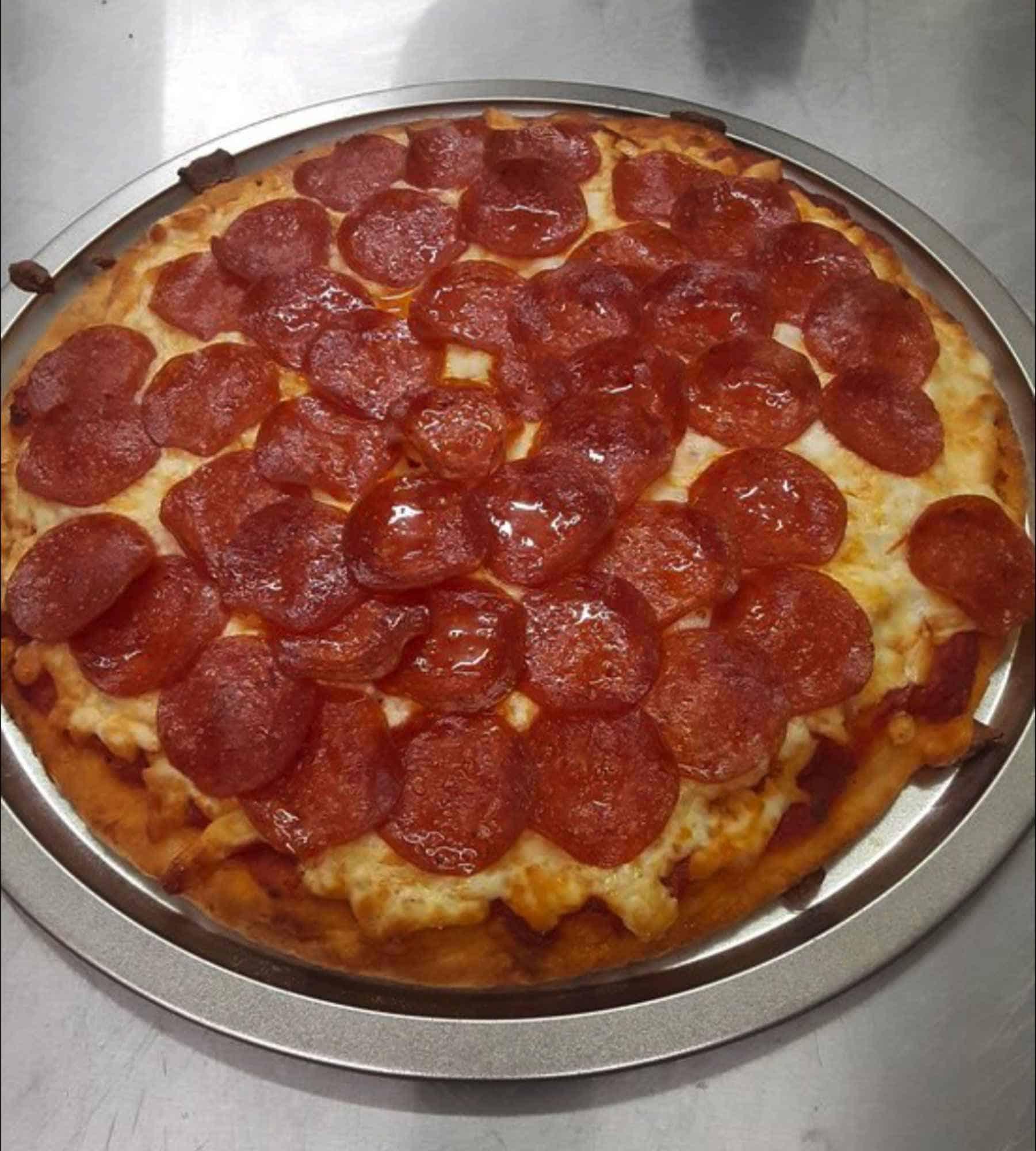 pepperoni pizza by Destiny's Keto Kitchen