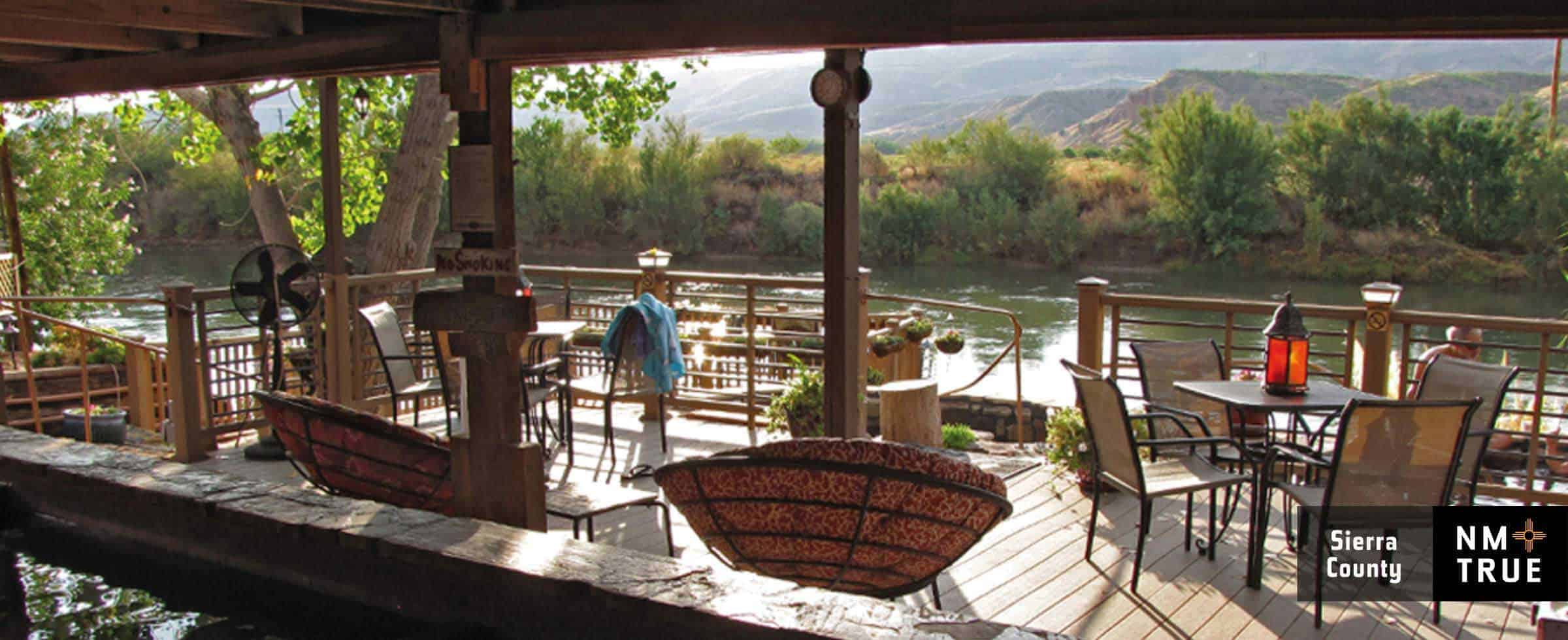 Riverbend Hot Springs on the banks of the Rio Grande