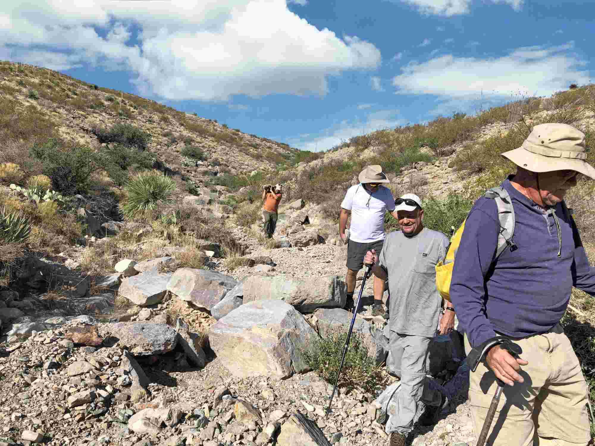 hiking Mud Mountain