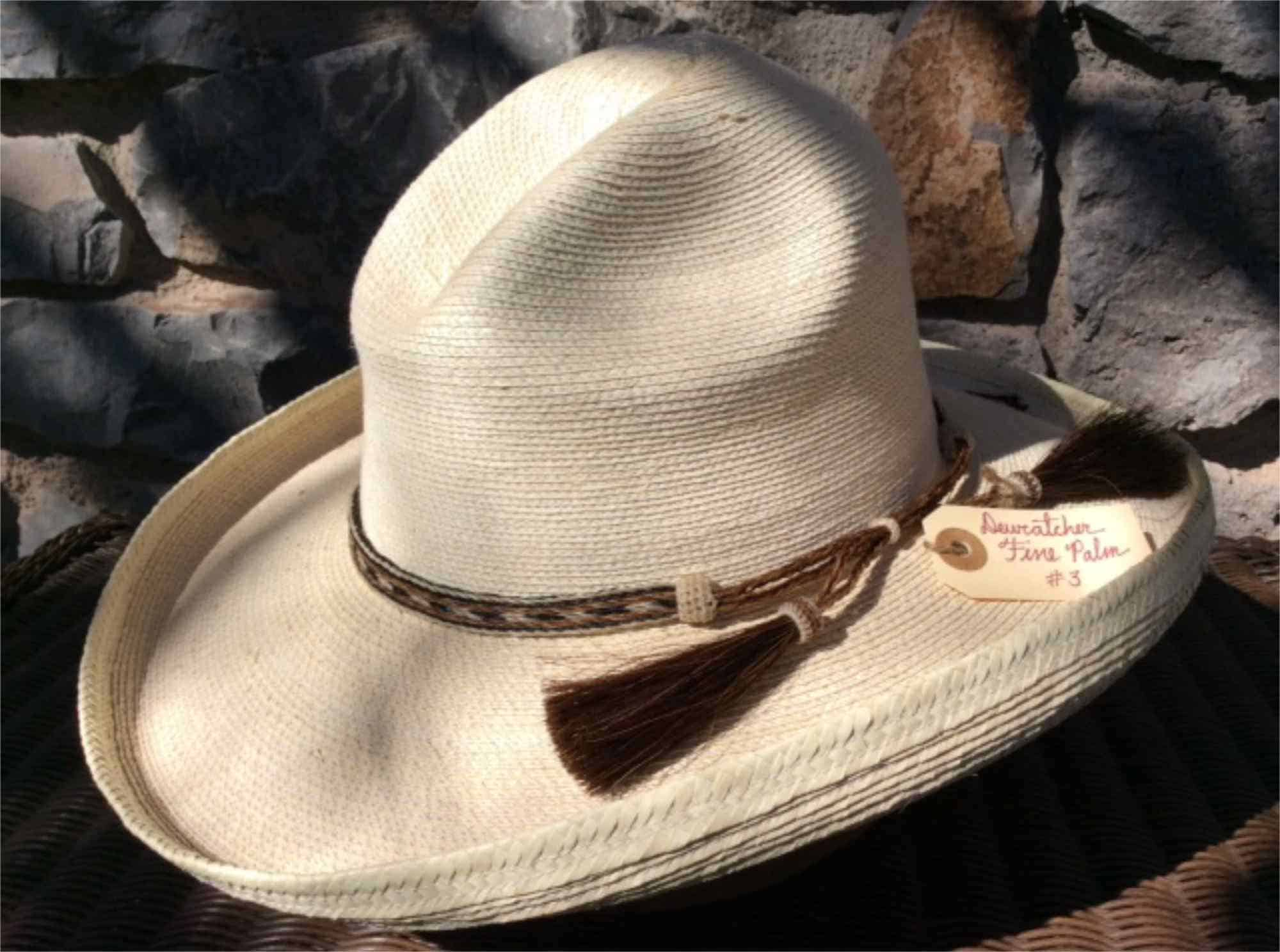 dewcatcher style hat with horsehair band