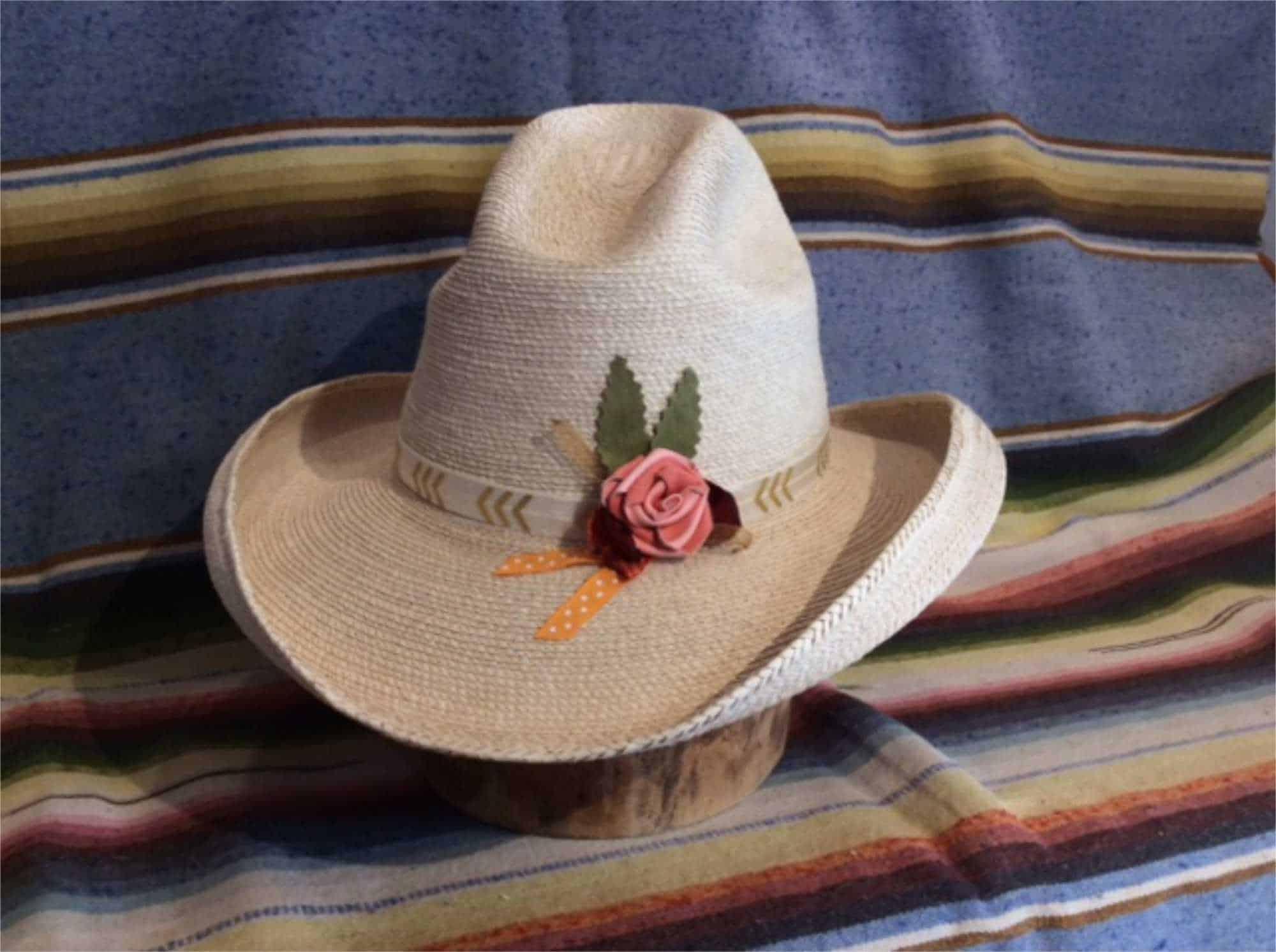 fine palm straw dewcatcher hat