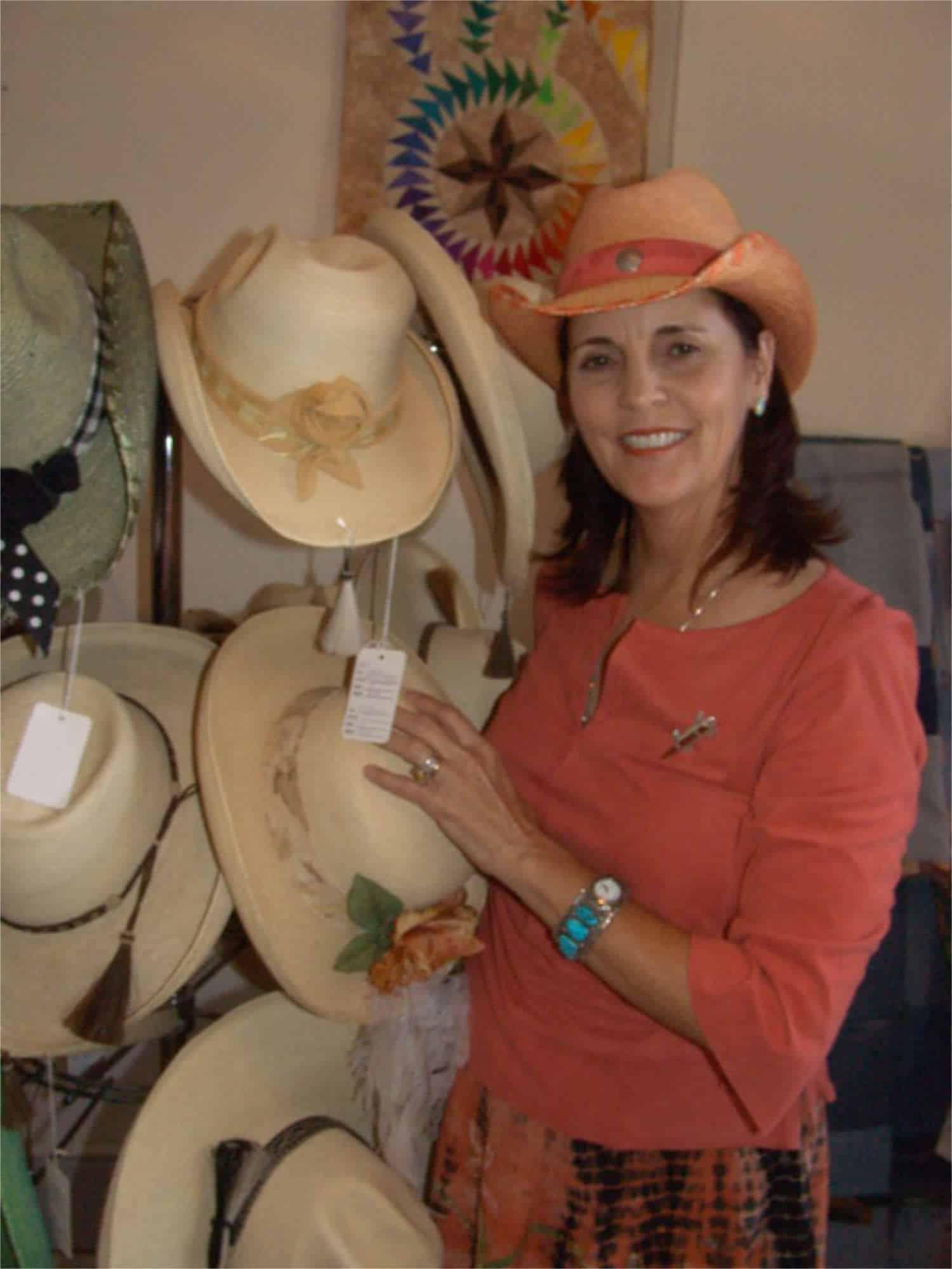 hat maker Janie Dobrott of Buffalo Belle Millinery