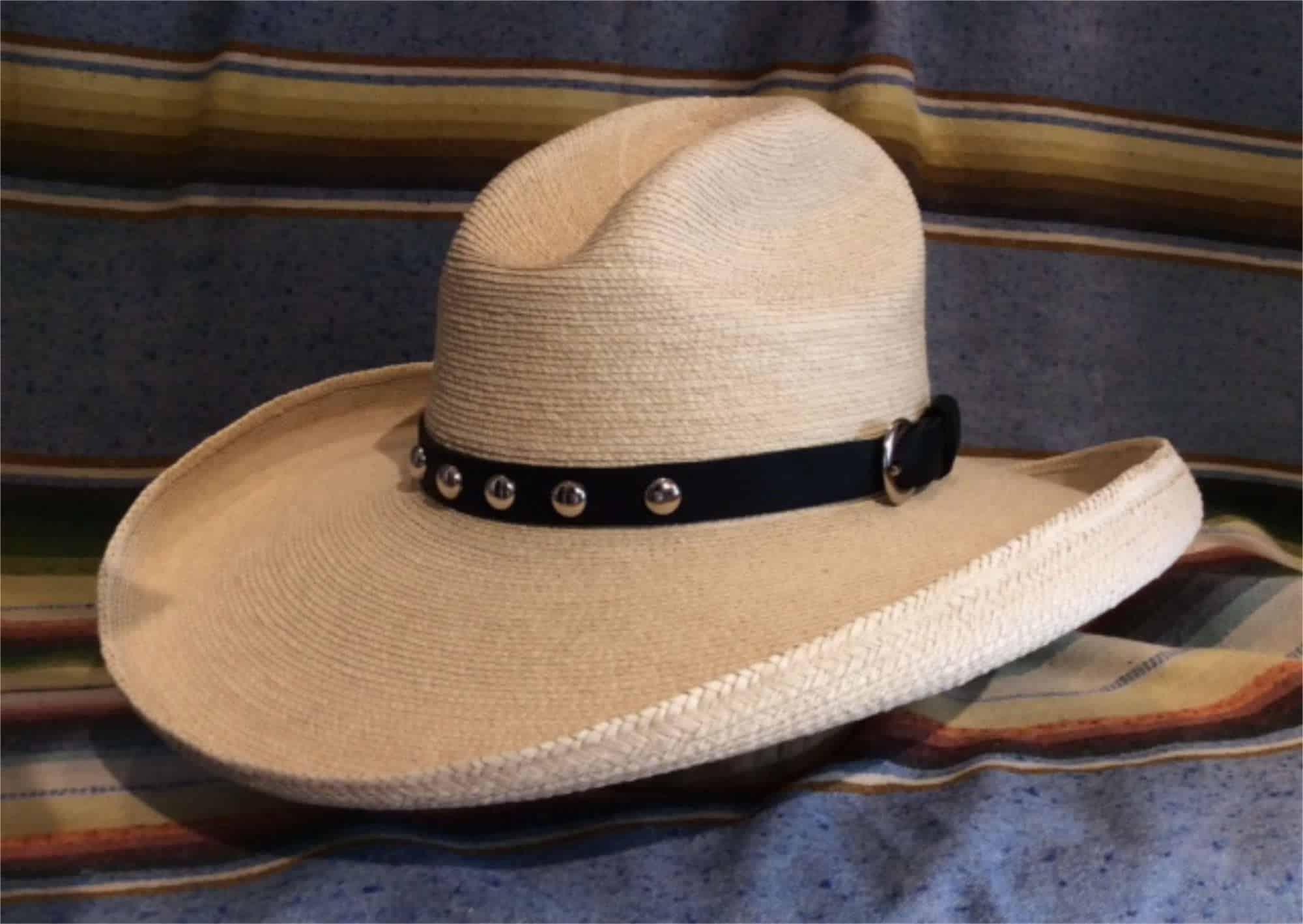 raincatcher style hat with black leather band