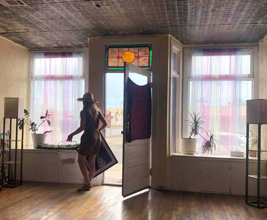 modern dance instructor Abigail Nance at Studio de la Luz