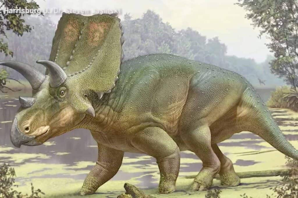 illustration of the new species of dinosaur found in Sierra County NM