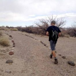 hiking path at Elephant Butte Lake, New Mexico