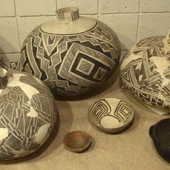 pottery at the Geronimo Springs Museum